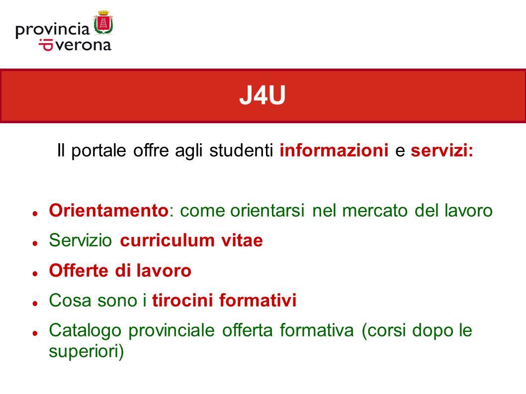 Il portale offre agli studenti informazioni e servizi: