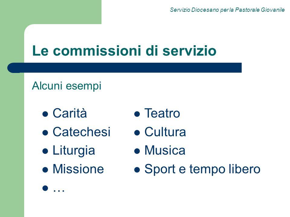 Le commissioni di servizio
