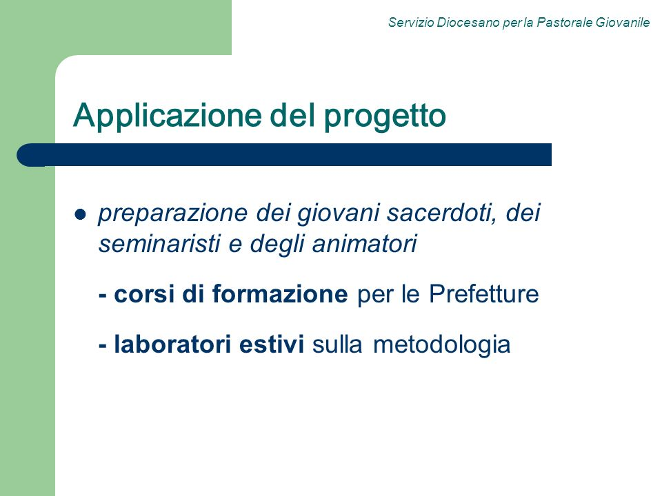 Applicazione del progetto