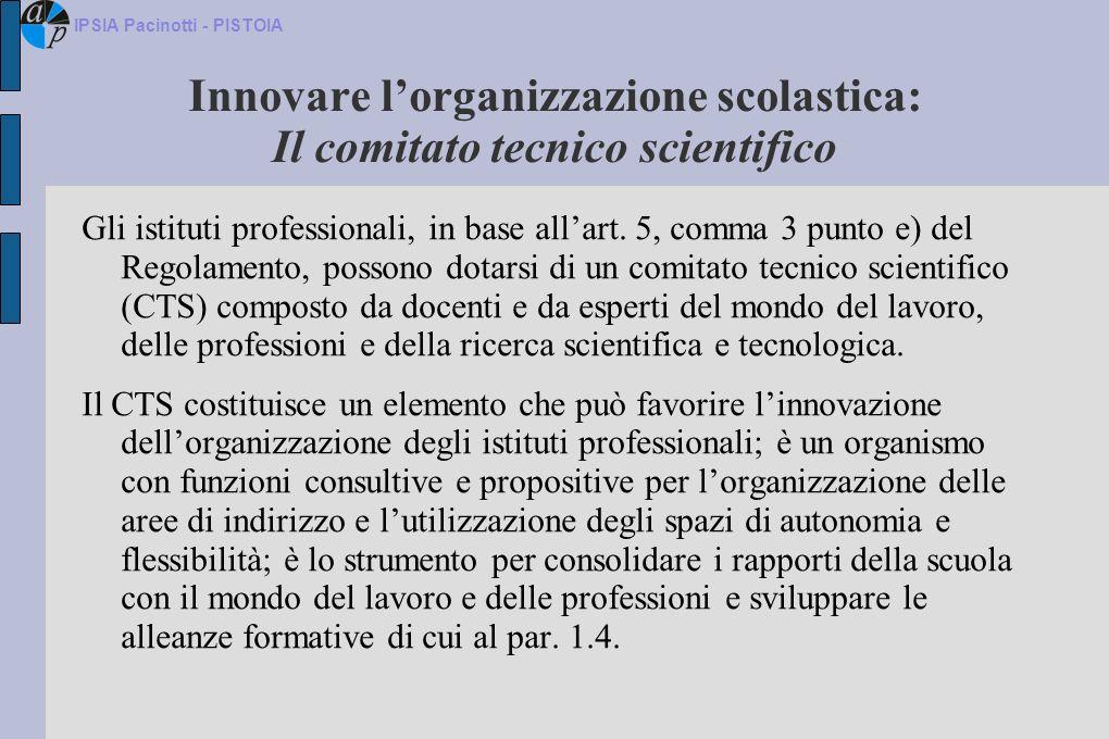Innovare l'organizzazione scolastica: Il comitato tecnico scientifico