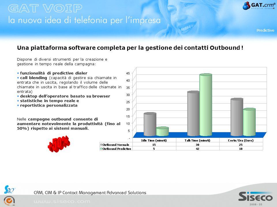 Predictive Una piattaforma software completa per la gestione dei contatti Outbound !