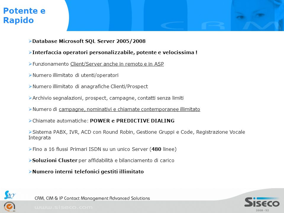 Potente e Rapido Database Microsoft SQL Server 2005/2008