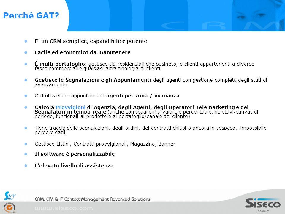 Perché GAT E' un CRM semplice, espandibile e potente