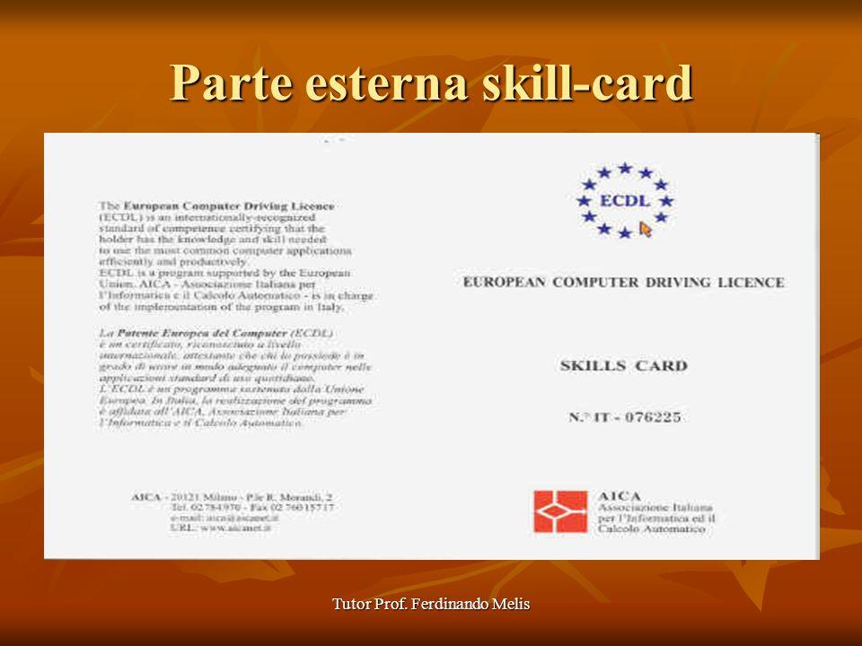 Parte esterna skill-card