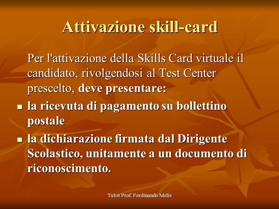 Attivazione skill-card