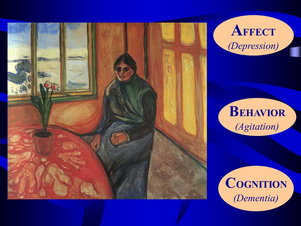 AFFECT (Depression) BEHAVIOR (Agitation) COGNITION (Dementia)