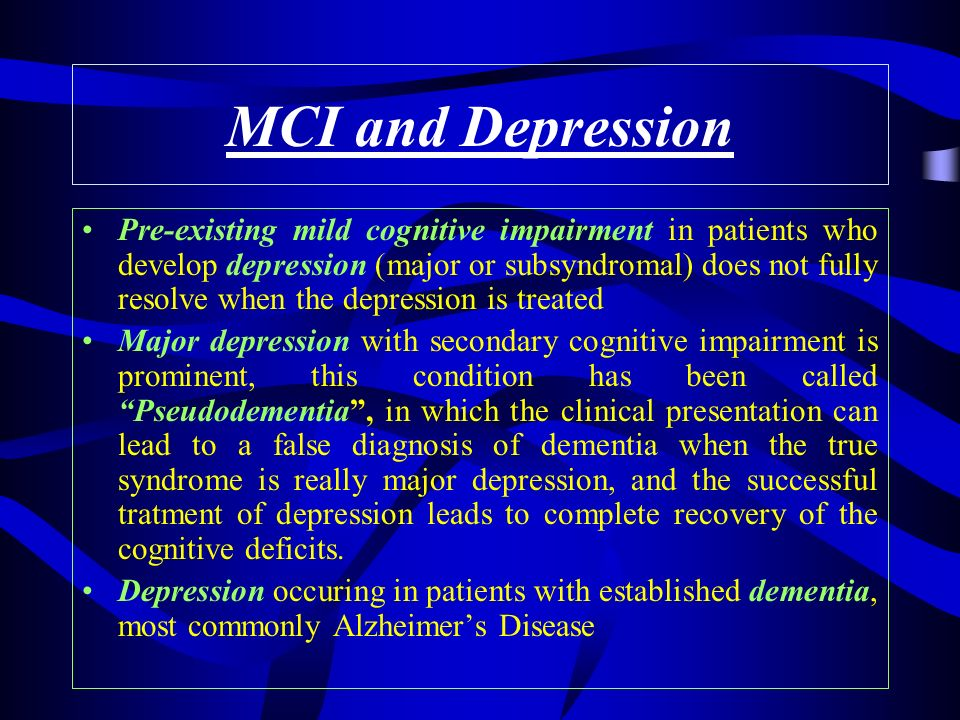 MCI and Depression