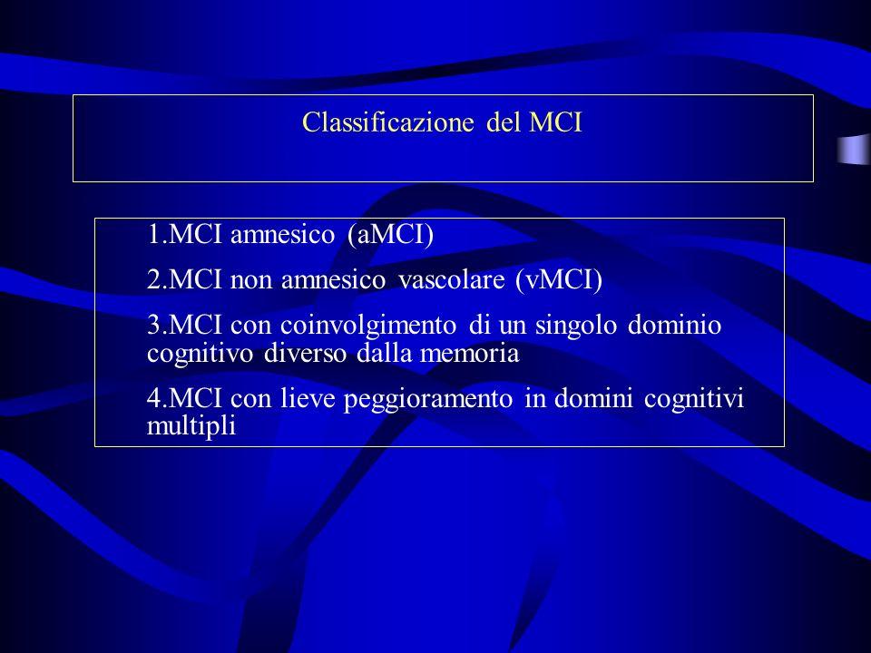 Classificazione del MCI