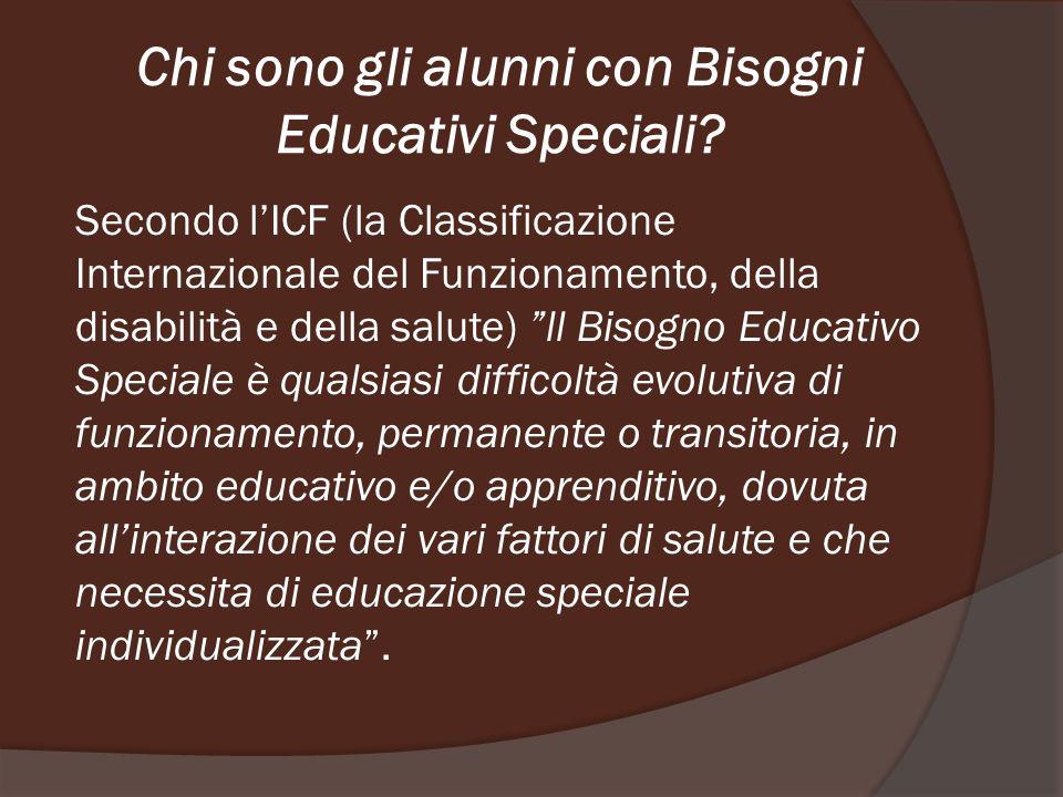 Chi sono gli alunni con Bisogni Educativi Speciali