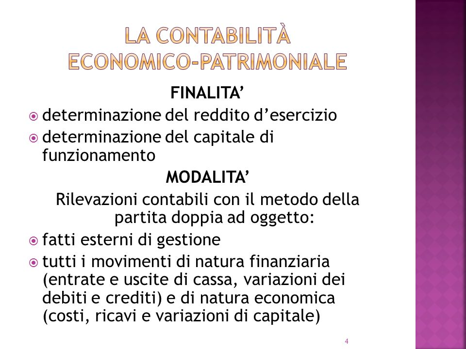 La contabilità economico-patrimoniale