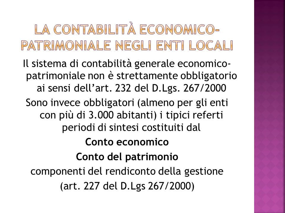 La contabilità economico-patrimoniale negli enti locali