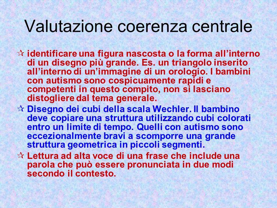 Valutazione coerenza centrale