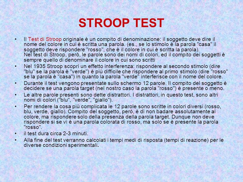 STROOP TEST