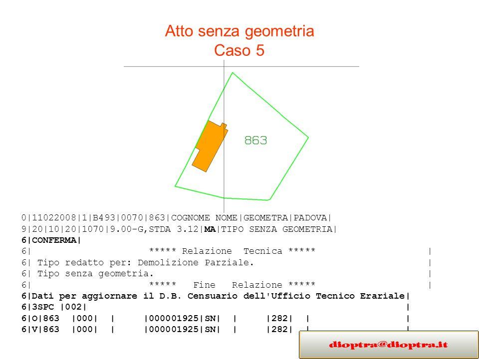Atto senza geometria Caso 5