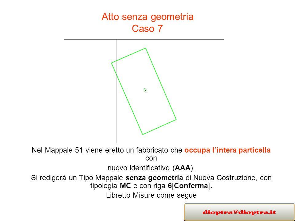 Atto senza geometria Caso 7