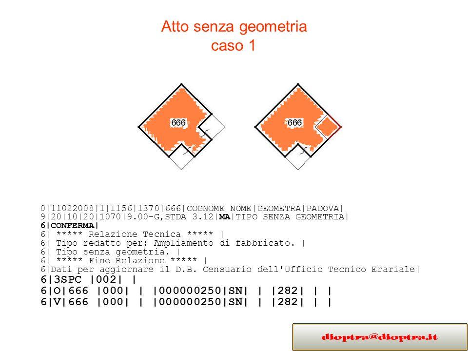 Atto senza geometria caso 1