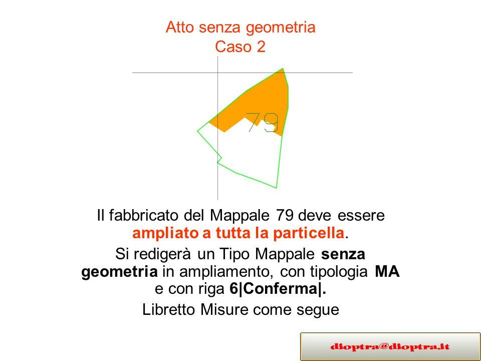 Atto senza geometria Caso 2