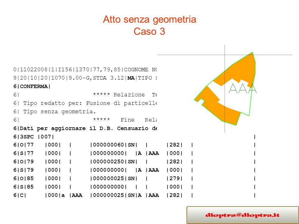 Atto senza geometria Caso 3