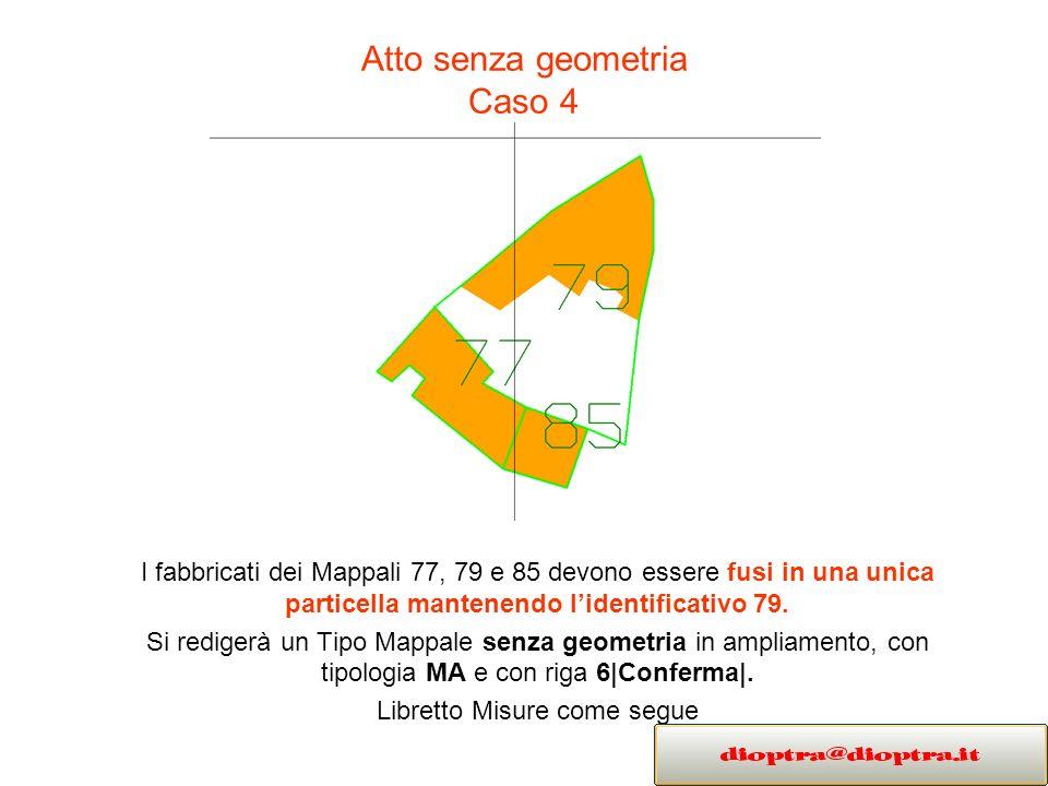 Atto senza geometria Caso 4
