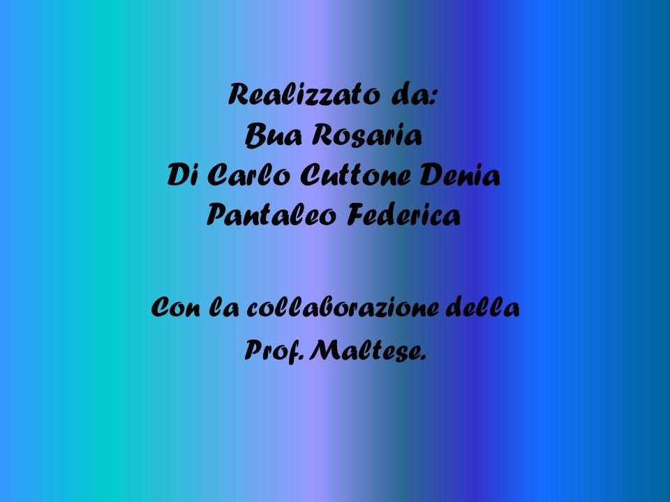 Realizzato da: Bua Rosaria Di Carlo Cuttone Denia Pantaleo Federica