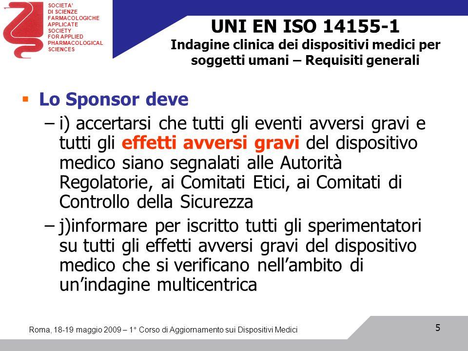UNI EN ISO 14155-1 Indagine clinica dei dispositivi medici per soggetti umani – Requisiti generali