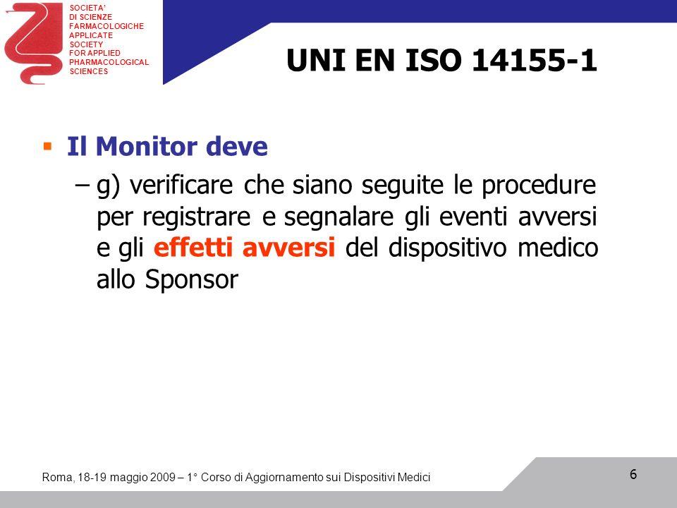UNI EN ISO 14155-1 Il Monitor deve