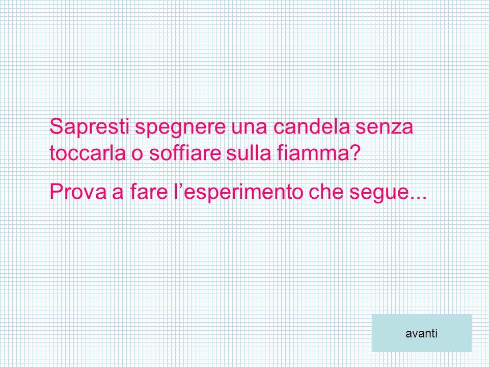 Sapresti spegnere una candela senza toccarla o soffiare sulla fiamma