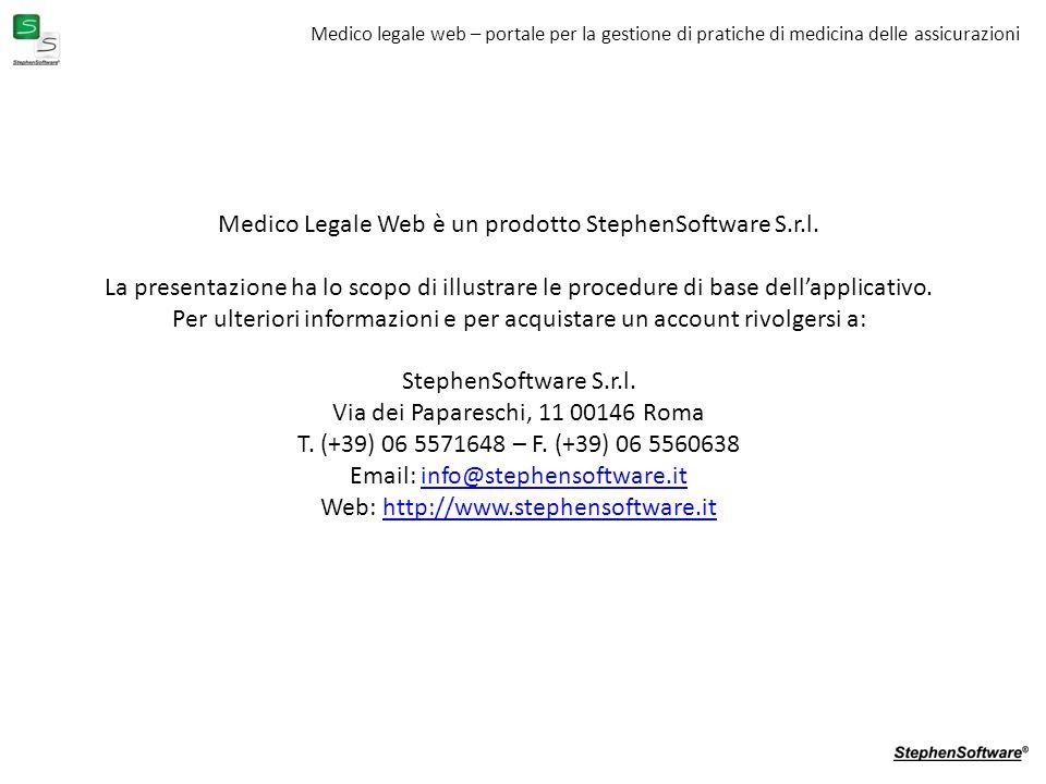Medico Legale Web è un prodotto StephenSoftware S.r.l.