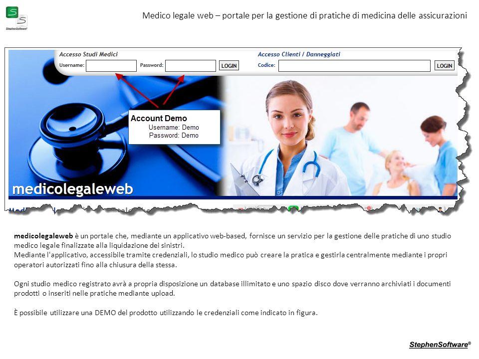 Medico legale web – portale per la gestione di pratiche di medicina delle assicurazioni