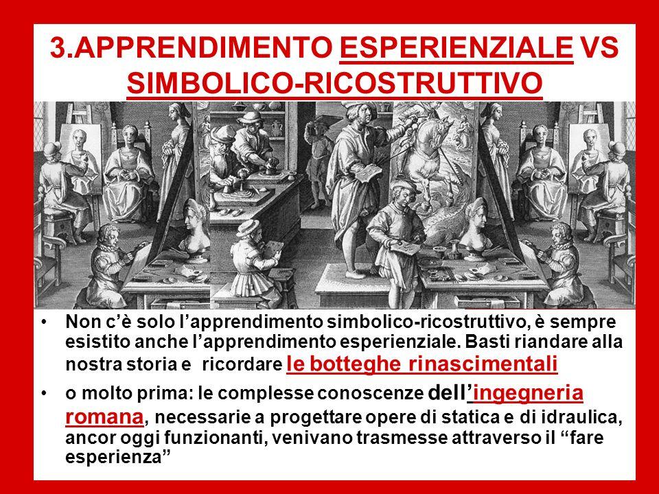3.APPRENDIMENTO ESPERIENZIALE VS SIMBOLICO-RICOSTRUTTIVO
