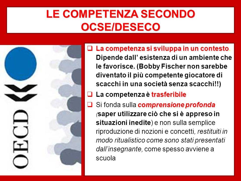 LE COMPETENZA SECONDO OCSE/DESECO