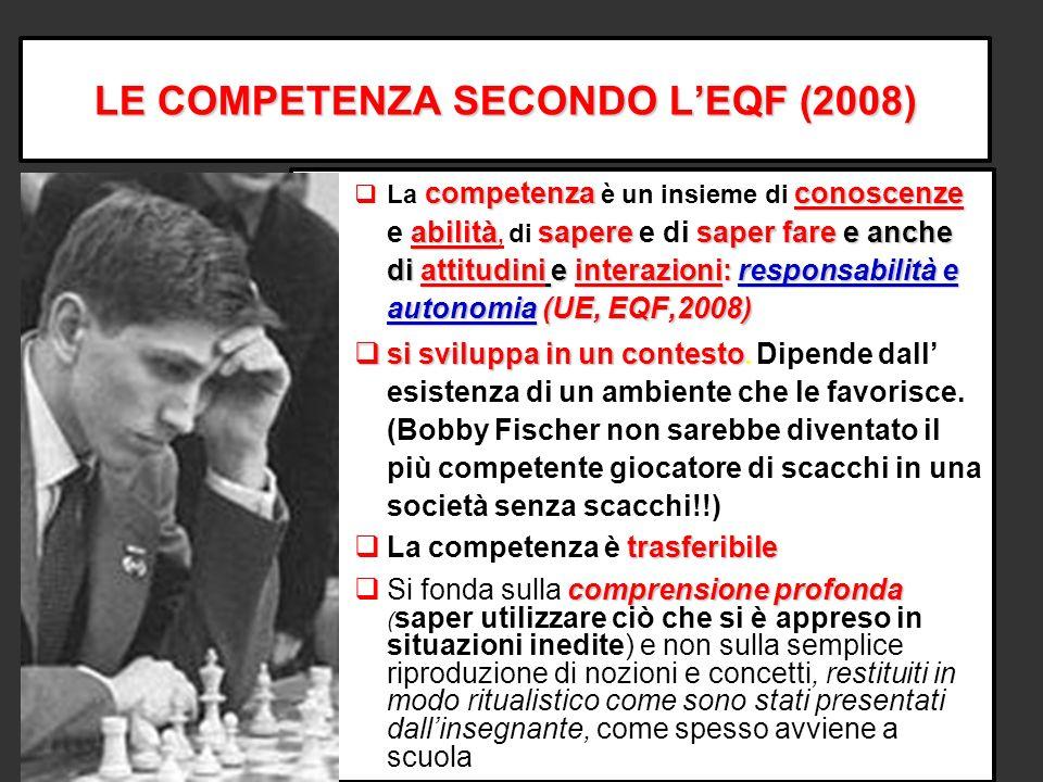 LE COMPETENZA SECONDO L'EQF (2008)