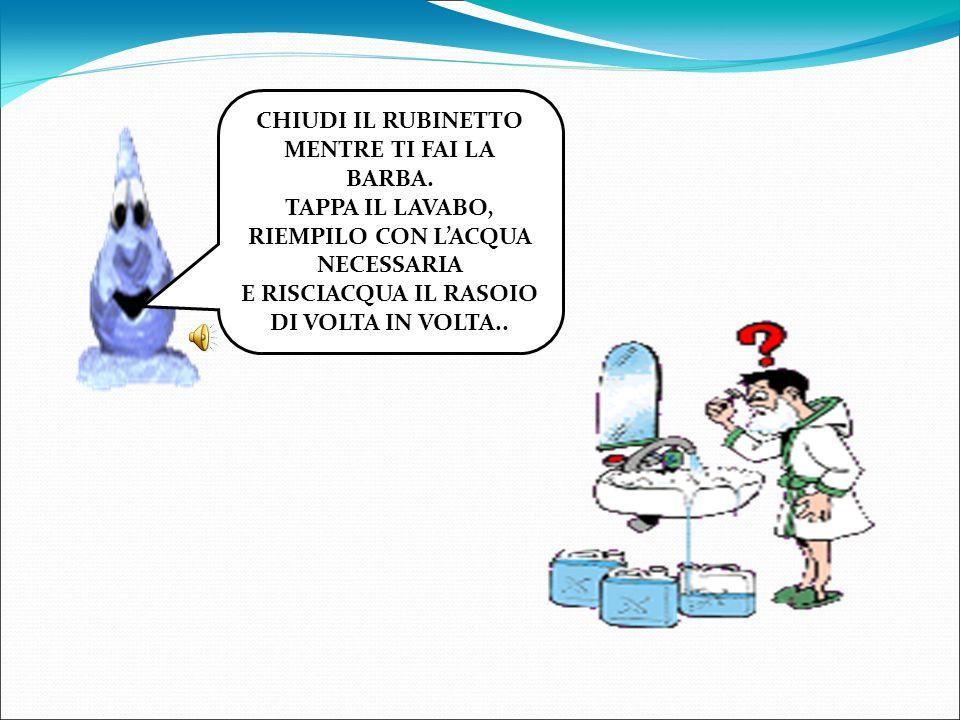 RIEMPILO CON L'ACQUA NECESSARIA