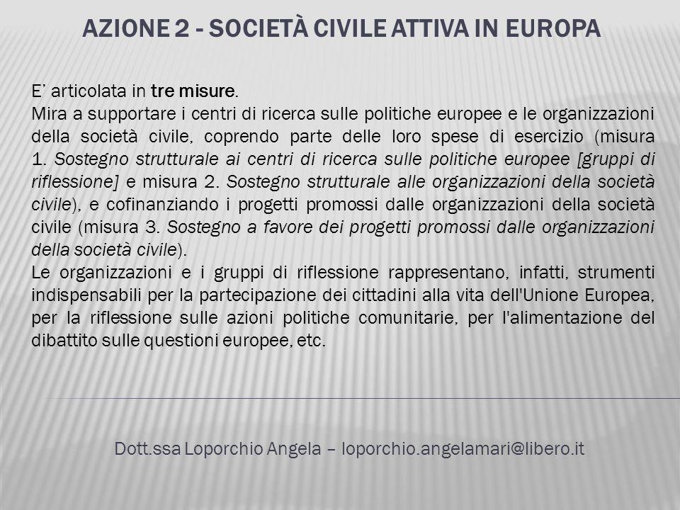 Azione 2 - Società civile attiva in Europa