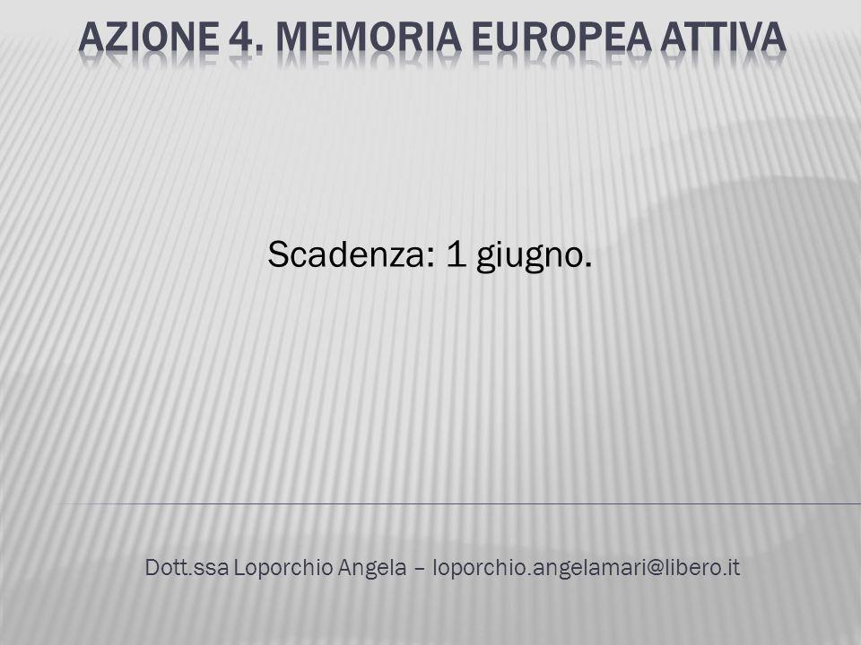 Azione 4. Memoria europea attiva