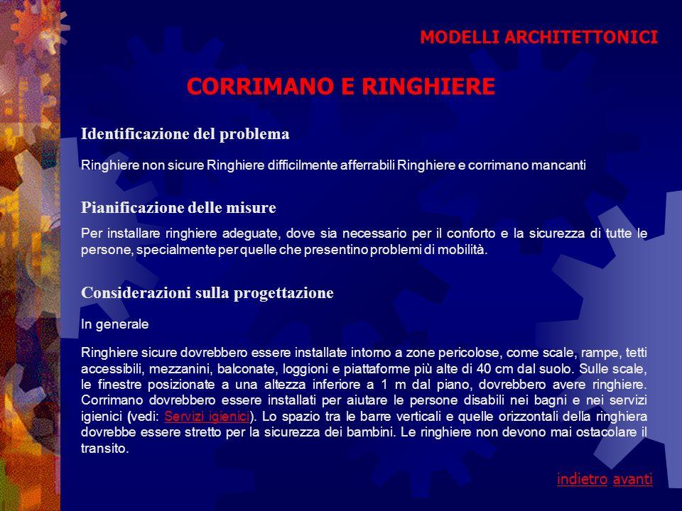 CORRIMANO E RINGHIERE MODELLI ARCHITETTONICI