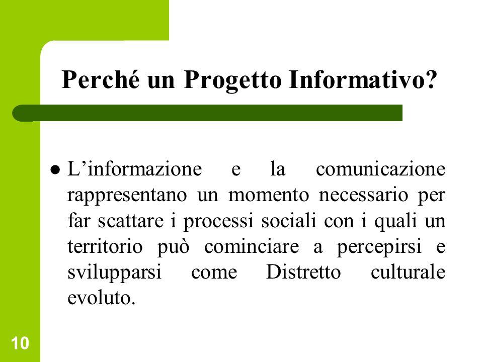 Perché un Progetto Informativo