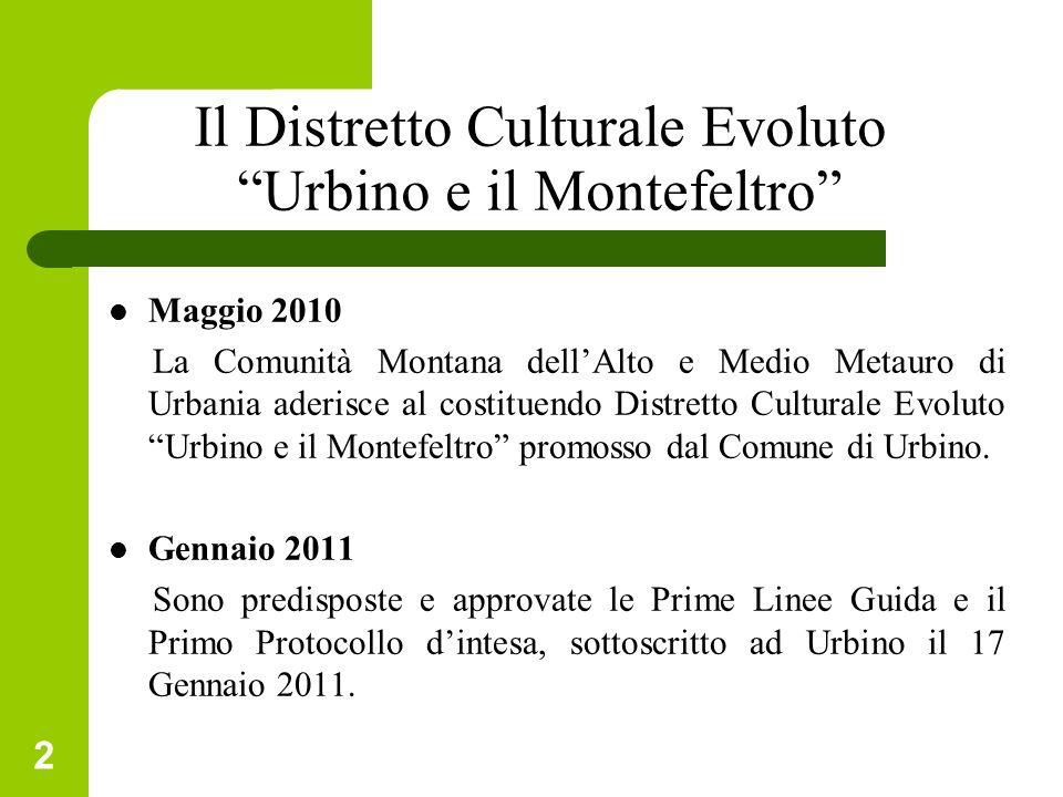 Il Distretto Culturale Evoluto Urbino e il Montefeltro