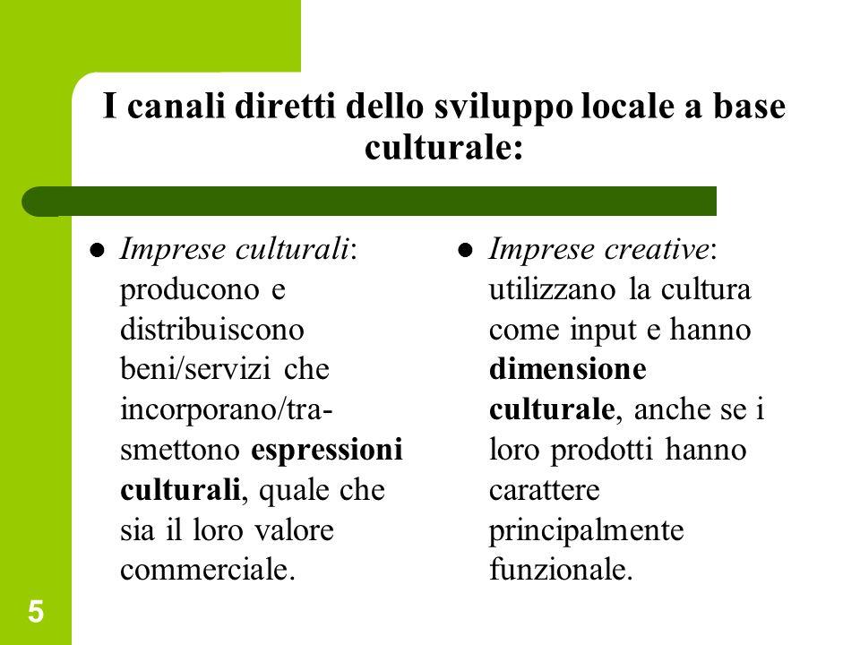 I canali diretti dello sviluppo locale a base culturale: