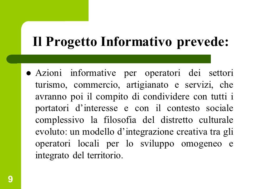 Il Progetto Informativo prevede: