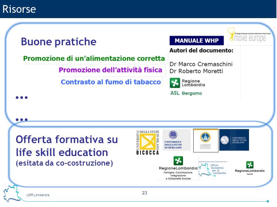 … Risorse Buone pratiche Offerta formativa su life skill education