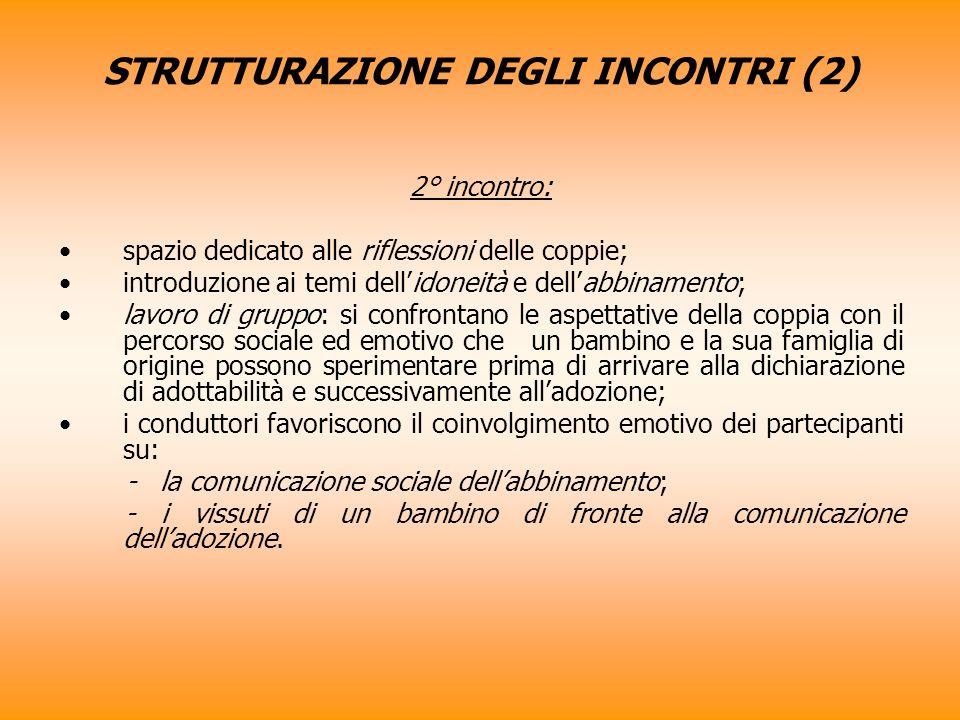 STRUTTURAZIONE DEGLI INCONTRI (2)