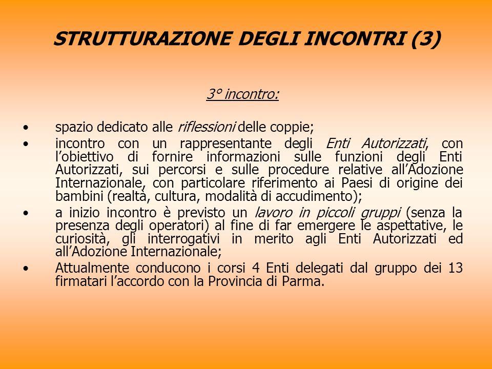 STRUTTURAZIONE DEGLI INCONTRI (3)