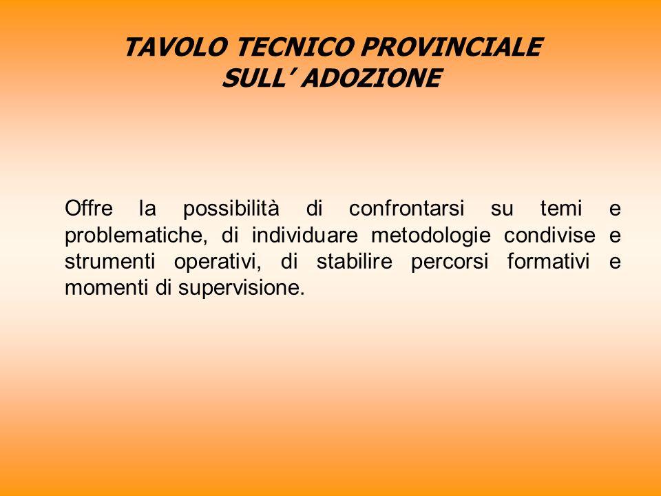 TAVOLO TECNICO PROVINCIALE SULL' ADOZIONE
