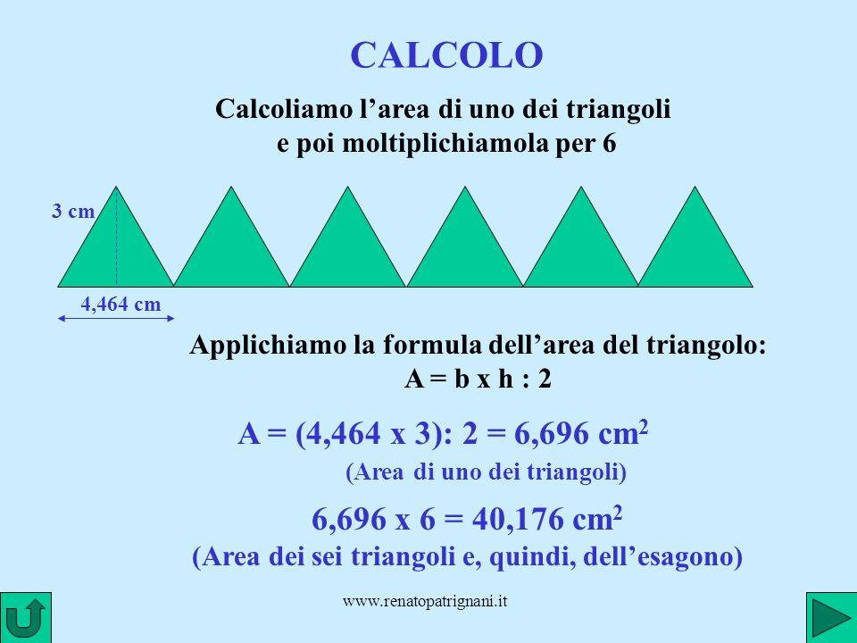 CALCOLO (Area di uno dei triangoli)