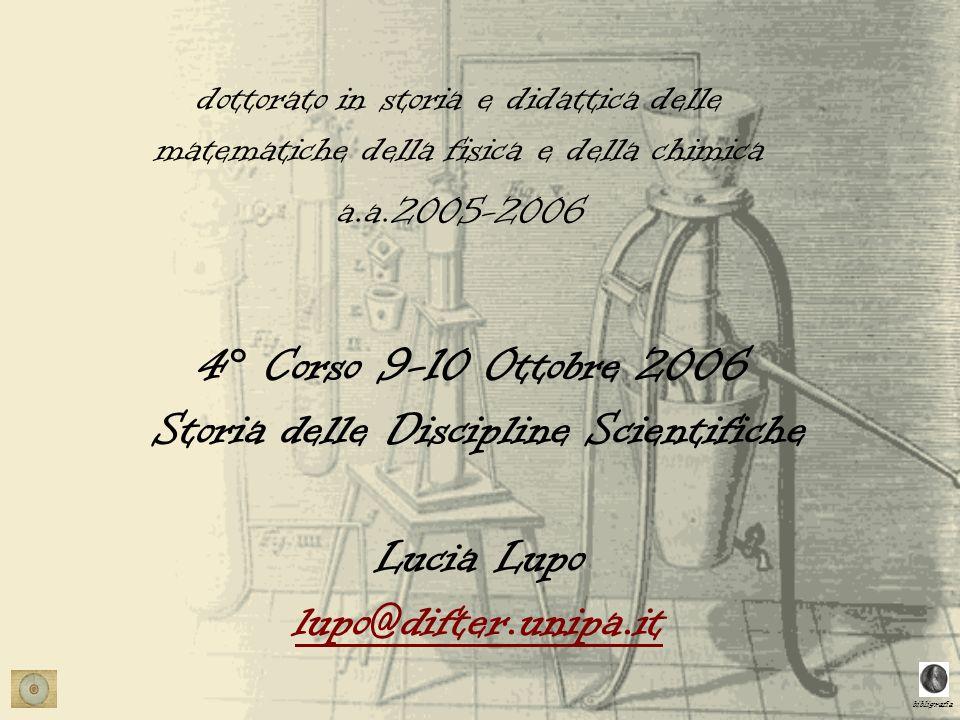 dottorato in storia e didattica delle matematiche della fisica e della chimica
