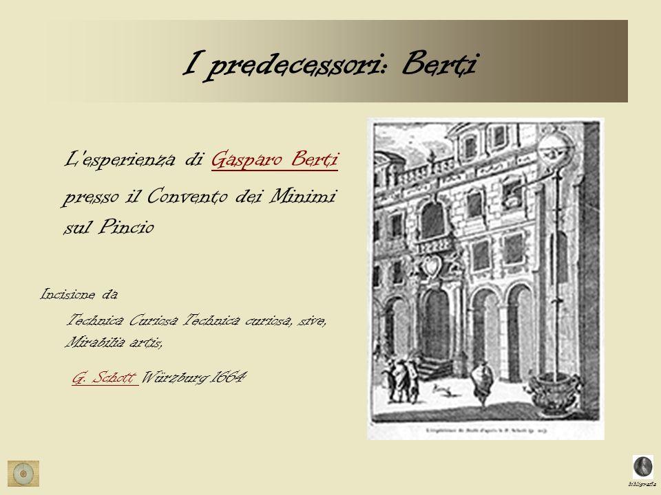 I predecessori: Berti L esperienza di Gasparo Berti