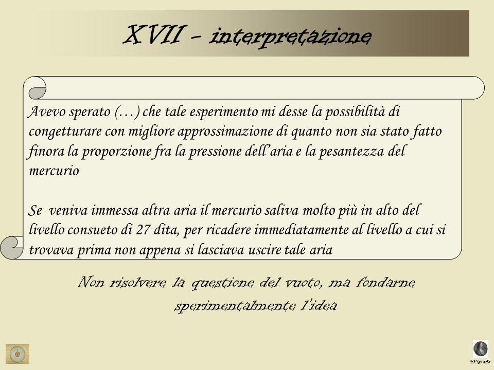 XVII - interpretazione