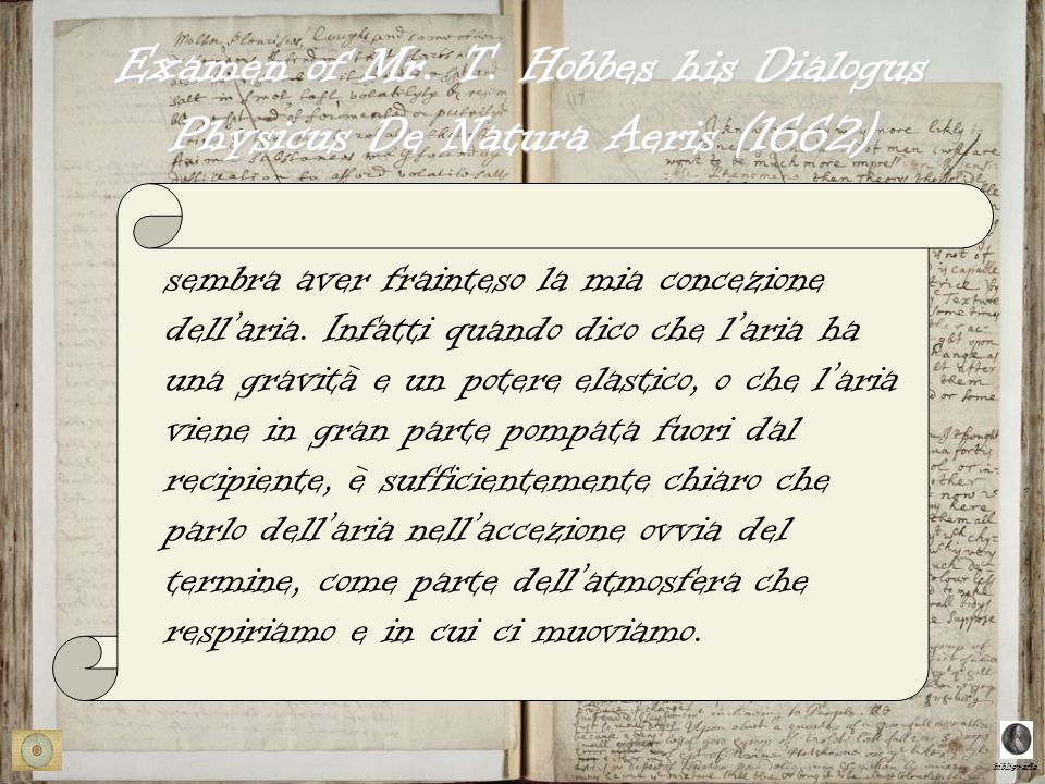 Examen of Mr. T. Hobbes his Dialogus Physicus De Natura Aeris (1662)