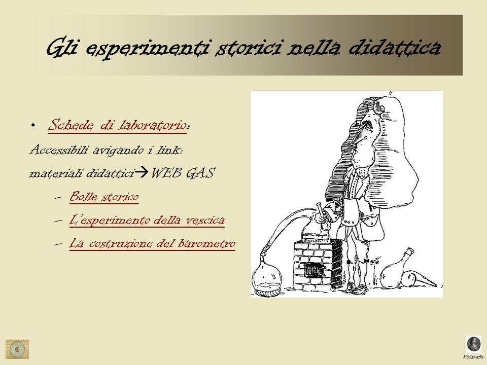 Gli esperimenti storici nella didattica